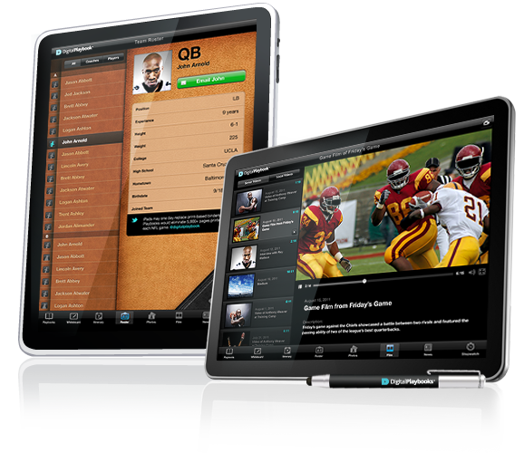 Image of Digital Playbook Roster for Sports Teams, NFL football, NBA, MLB, NHL