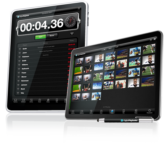 Image of Digital Playbook Playing Field tablet for Sports Teams, NFL, NBA, MLB, NHL