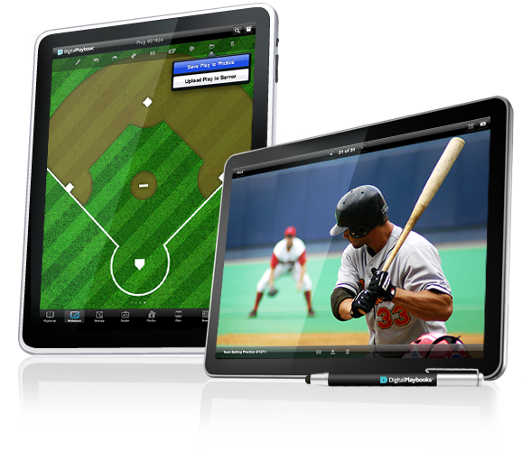 Image of Digital Playbook iPad App Playing Field tablet for Sports Teams, baseball and MLB