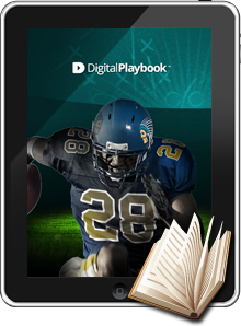 Image of Football player on Digital Playbook for the iPad