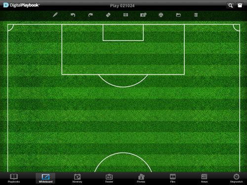 Photos of sports teams using Digital Playbook app for ipad